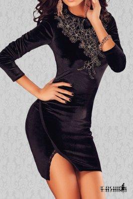 Rochie CherryVelvet Black