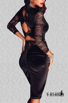Rochie ModernVelvet Black
