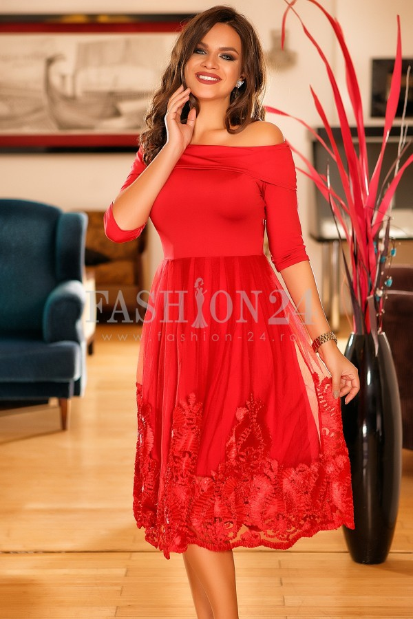 Rochie Pearl Red