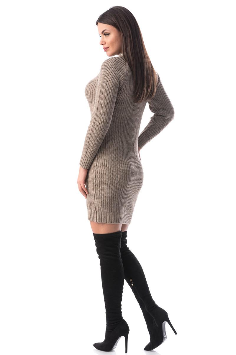 J936-155 Rochie scurta si tricotata cu choker