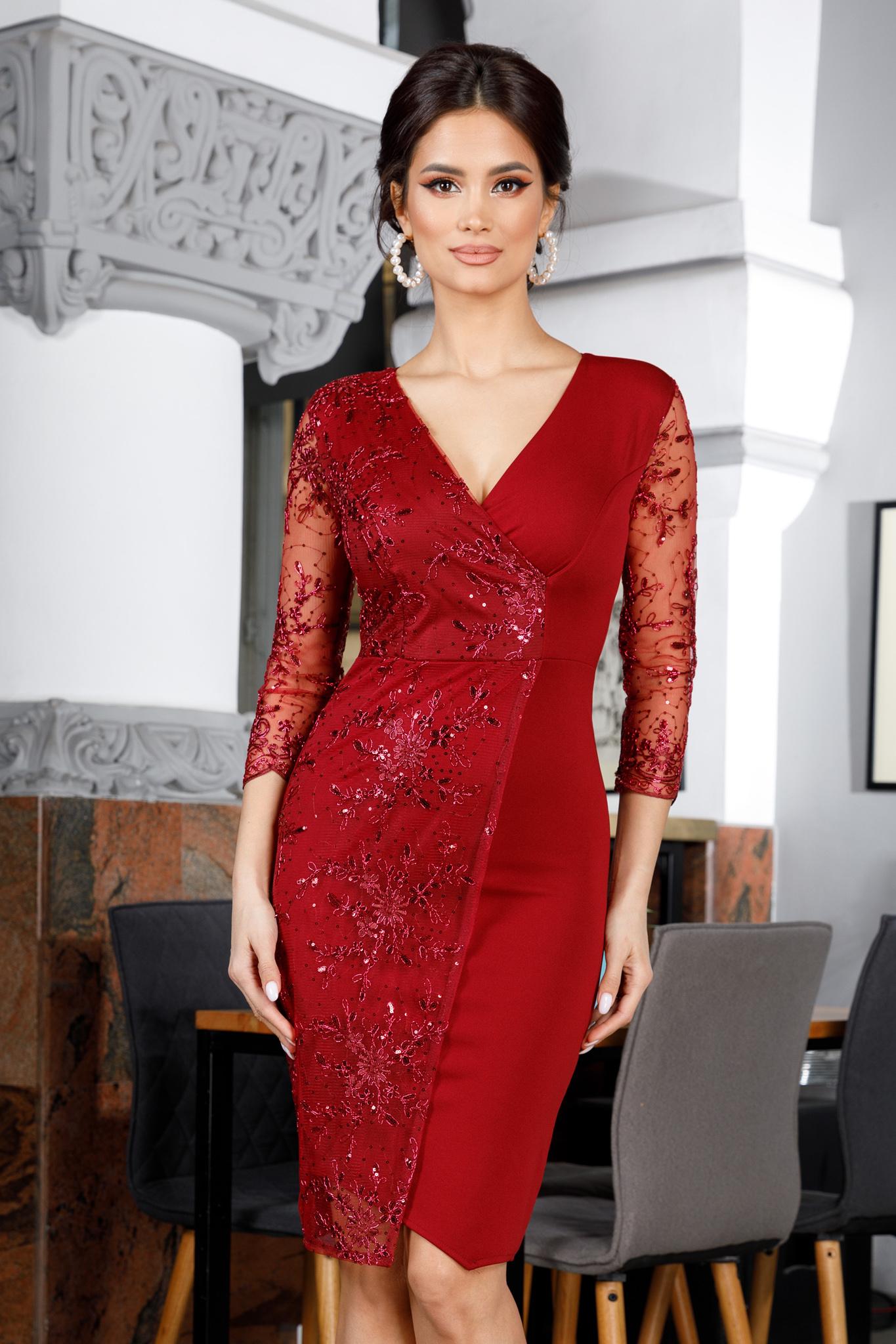 Rochie Verona Bordo